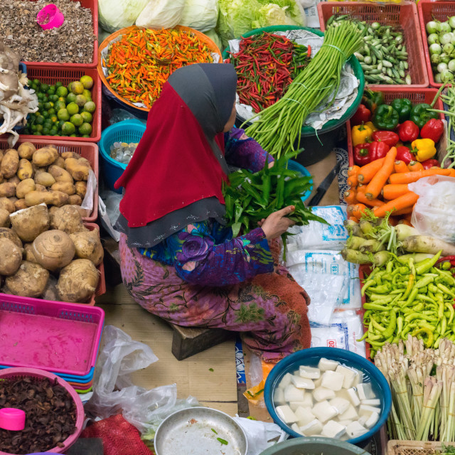 """""""Big Market in Kelantan"""" stock image"""
