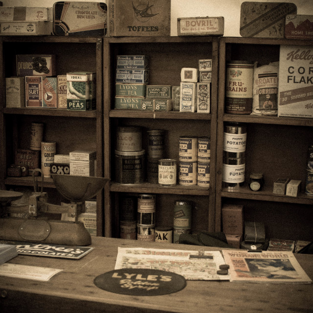 """British WW2 shop"" stock image"