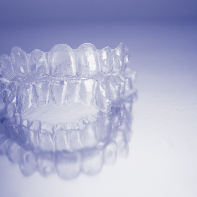"""Plastic dental orthodontics"" stock image"
