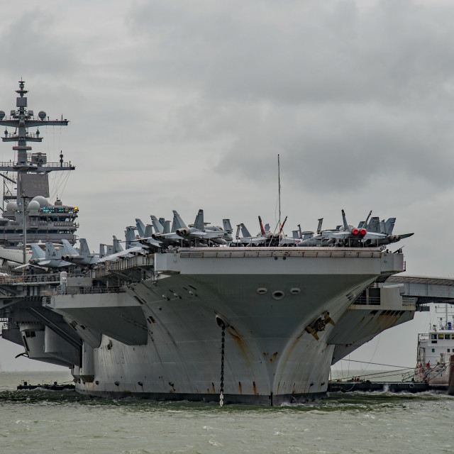 """USS George H W Bush (CVN77)."" stock image"