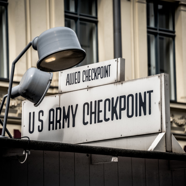 """""""Checkpoint Charlie"""" stock image"""