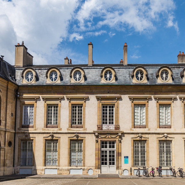 """""""Inside of palace the Dukes of Burgundy in down town of Dijon city. Province Bourgogne Franche-Comte"""" stock image"""