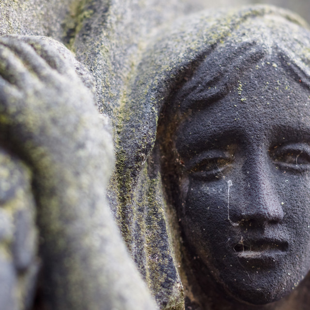 """Mourner in Stone"" stock image"