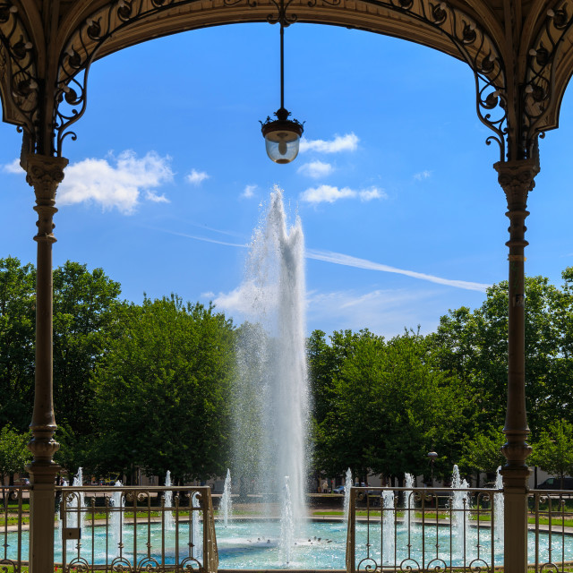 """""""View on fountain"""" stock image"""
