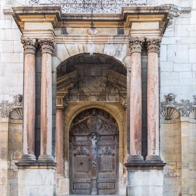 """""""Entrance to cathedral"""" stock image"""
