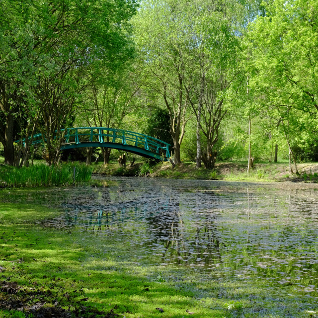 """The Monet Bridge at Patchings"" stock image"