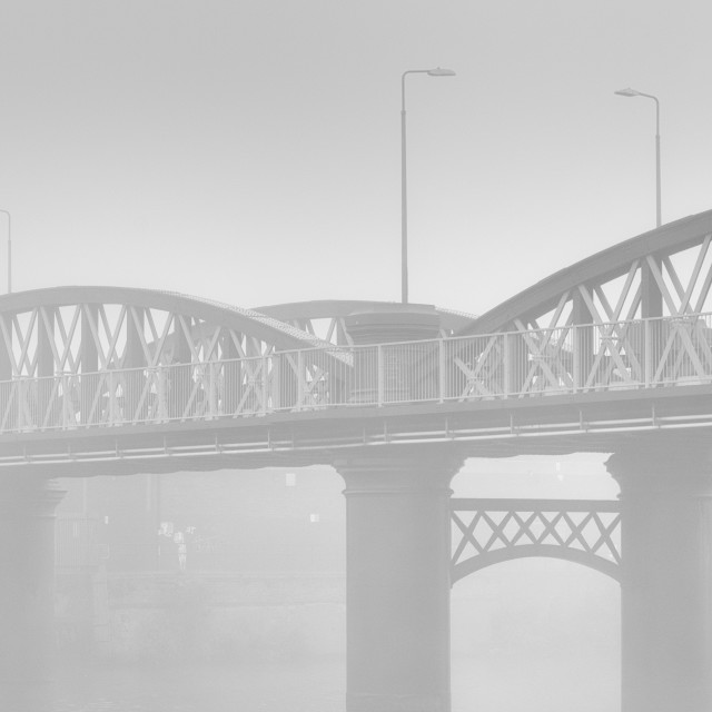 """Fog on the Trent"" stock image"
