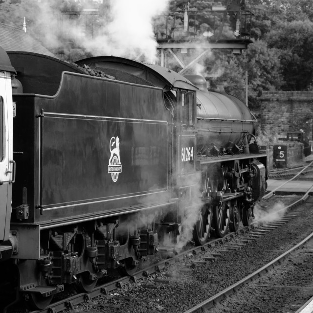 """Steam at Grosmont"" stock image"