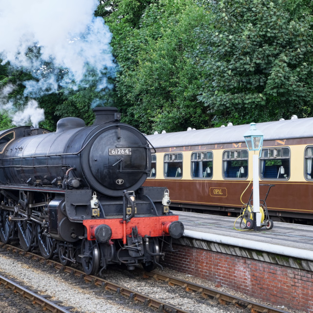 """Steam at Grosmont 2"" stock image"