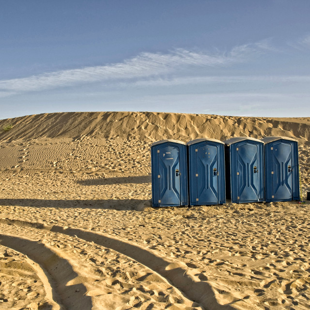 """Toilets in the desert; Timbuktu, Mali, West Africa"" stock image"