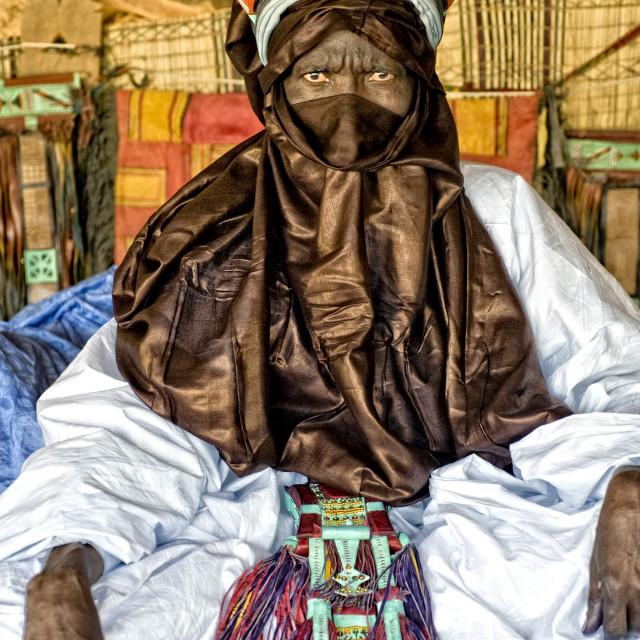 """""""Touareg elder; Timbuktu, Mali; West Africa"""" stock image"""