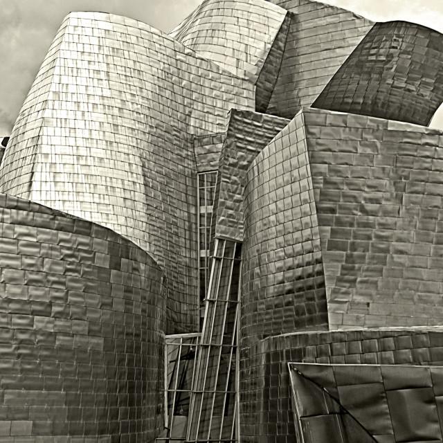 """""""Guggenheim museum, Bilbao, Spain"""" stock image"""