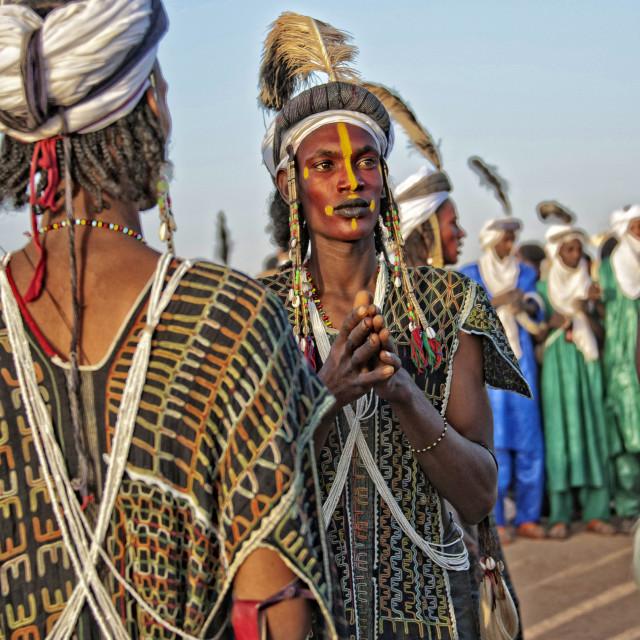"""Wodaabe male beauty; Niger, Africa"" stock image"