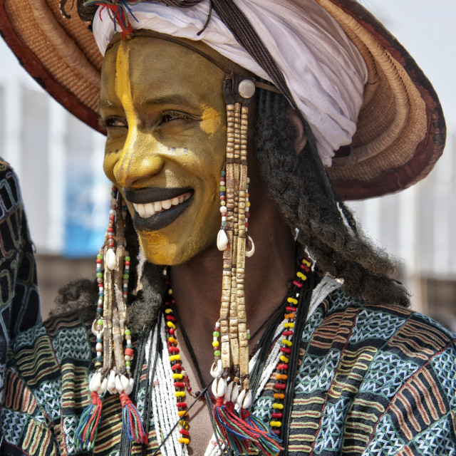 """Wodaabe man - Niger, West Africa"" stock image"