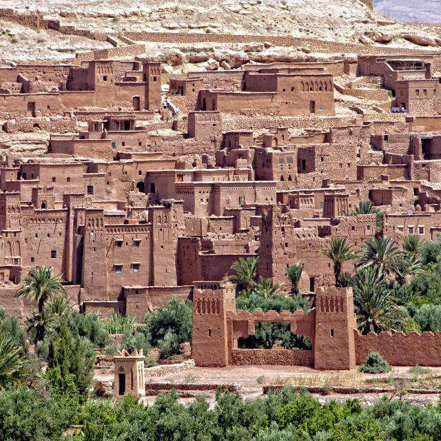 """""""Ksar Aït Benhaddou, Morocco, Africa"""" stock image"""