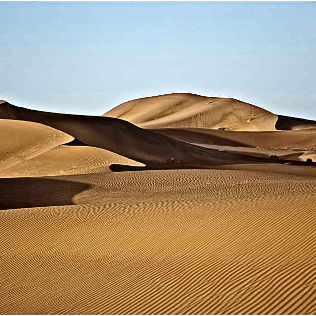 """Sahara desert sand dunes; Africa"" stock image"