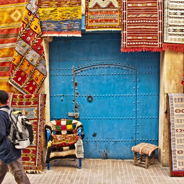 """Essaouira street scene; Morocco, North Africa"" stock image"