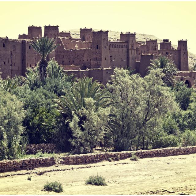 """Ksar Aït Benhaddou, Morocco, North Africa"" stock image"