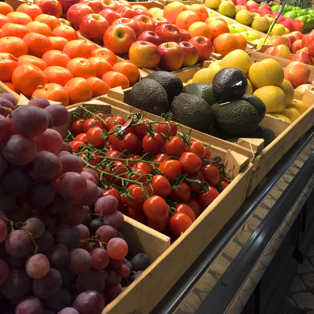 """""""Close up of an indoor fruit market"""" stock image"""