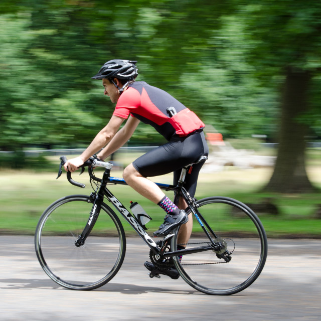 """Richmond Park Rider"" stock image"
