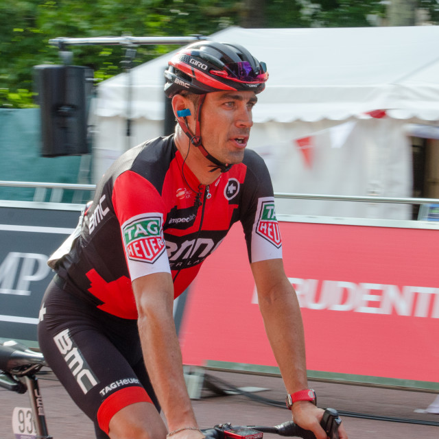 """Manuel Quinziato BMC Racing London-Surrey Classic 2017"" stock image"
