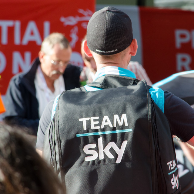"""Soigneur Team Sky London-Surrey Classic 2017"" stock image"