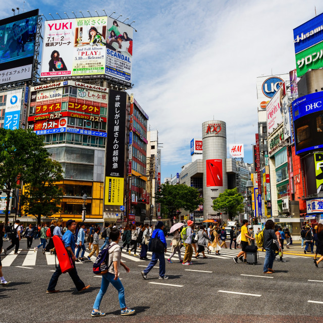 """Shibuya crossing"" stock image"