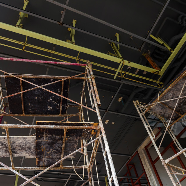 """""""scaffold inside construction site building"""" stock image"""