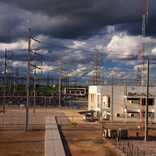 """""""High voltage electricity station"""" stock image"""