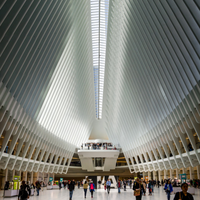 """World Trade Center Transportation hub interior"" stock image"