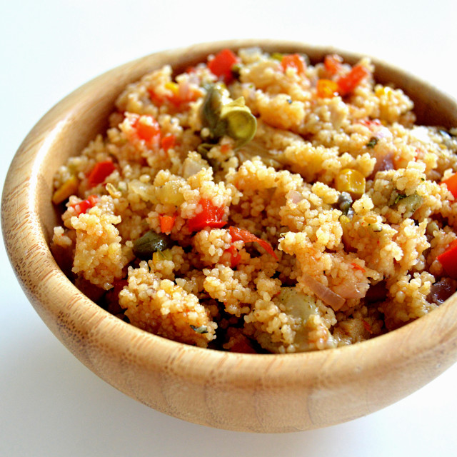 """Couscous with chicken"" stock image"
