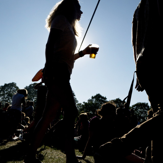"""English summer festival, North London"" stock image"