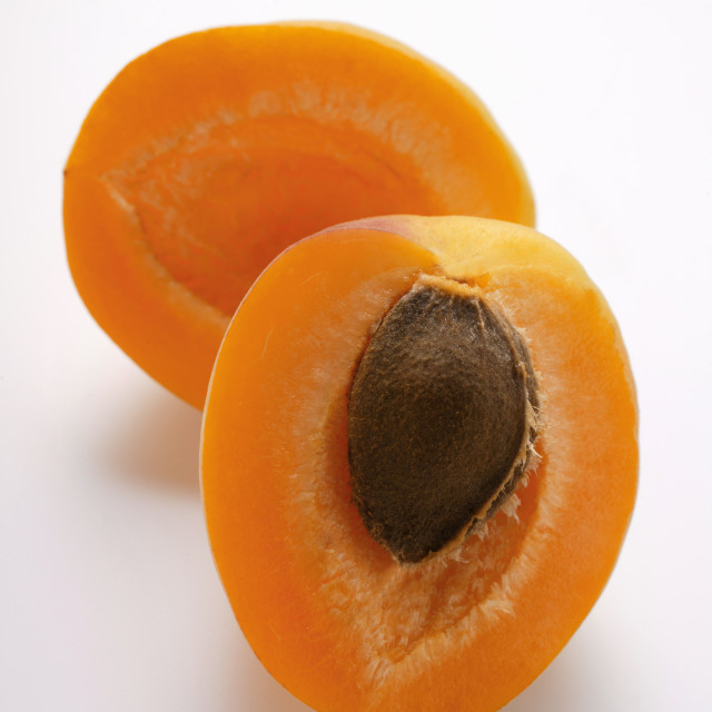 """""""Two apricot halves"""" stock image"""