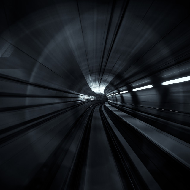 """The Light at the end of the tunnel"" stock image"