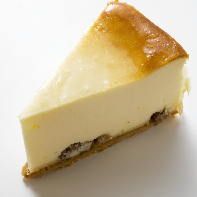 """Piece of cheesecake"" stock image"