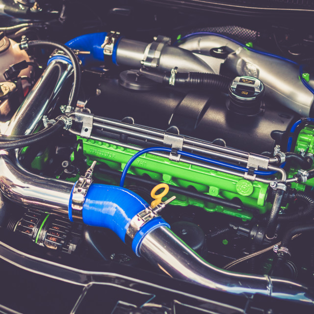 """""""Clean Engine Bay"""" stock image"""