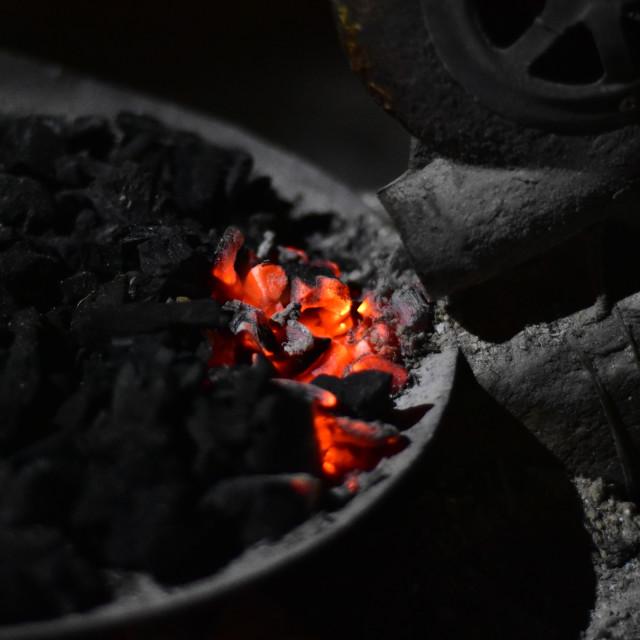 """""""Burning coal"""" stock image"""