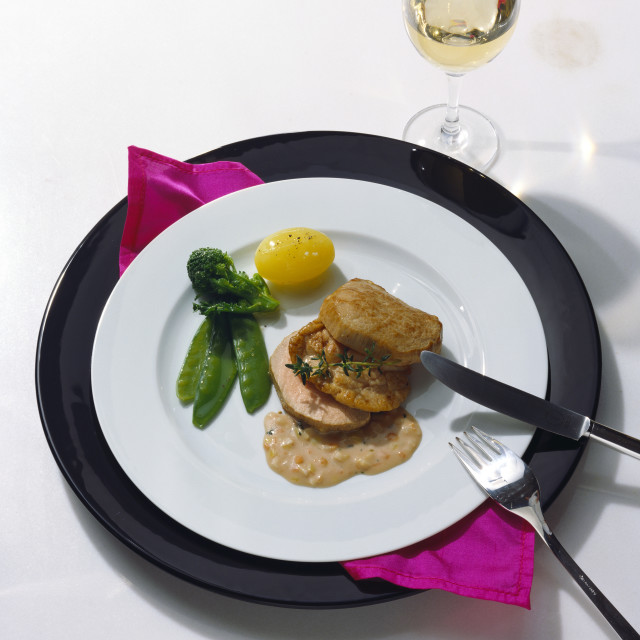 """""""Fillet of Veal and Veal Sweetbreads with Sauce"""" stock image"""