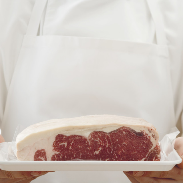 """A piece of beef sirloin"" stock image"