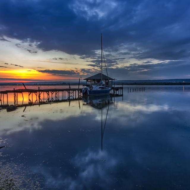 """Stunning long exposure sunset"" stock image"