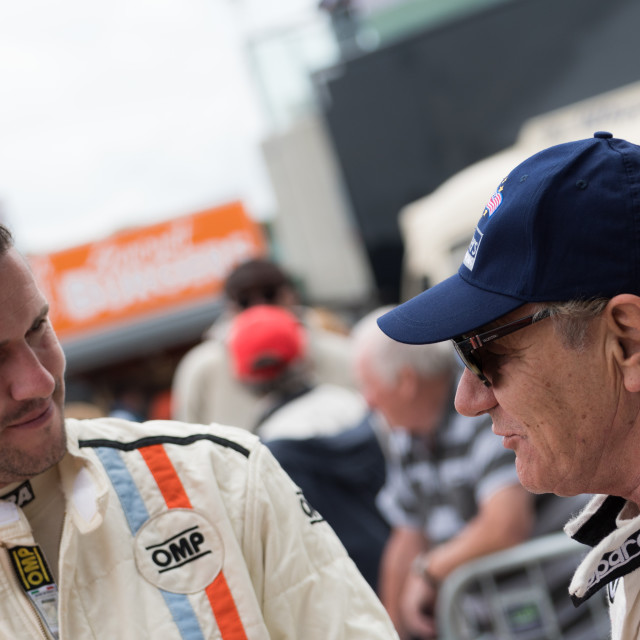 """""""Ant Anstead and Brian Johnson Silverstone Classic 2017"""" stock image"""