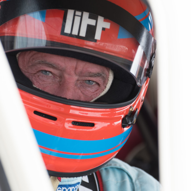 """""""Tiff Needell looking cool before the 2017 Silverstone Classic"""" stock image"""