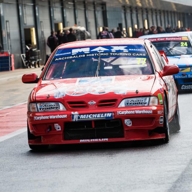 """Matt Neal's 1998 Nissan Primera"" stock image"