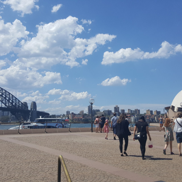 """Beautiful Day in Sydney"" stock image"