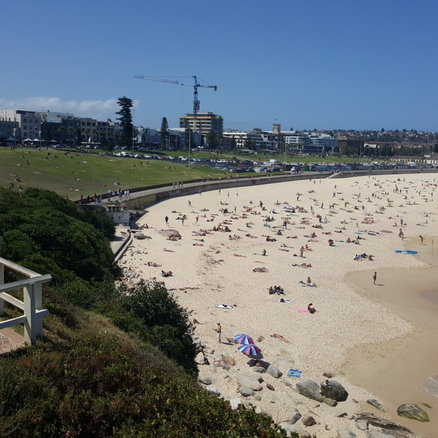 """Sights and Sounds of Sydney - Bondi Beach"" stock image"