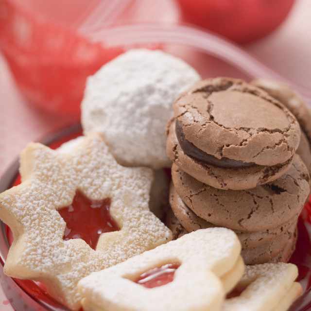 """Assorted Christmas biscuits"" stock image"