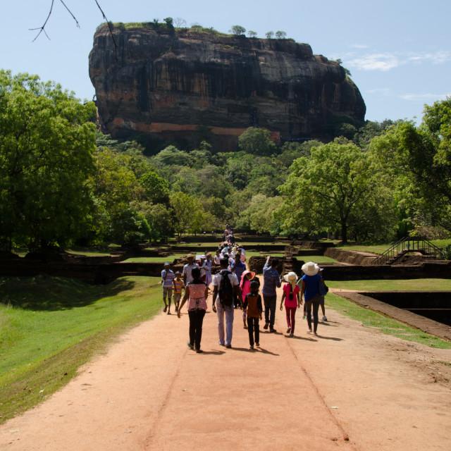 """Lions Rock, Sigiriya"" stock image"