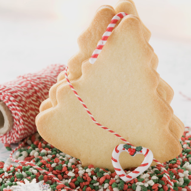 """""""Fir tree biscuits, kitchen string and sweets"""" stock image"""