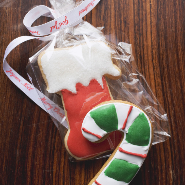 """""""Christmas biscuits to give as a gift"""" stock image"""