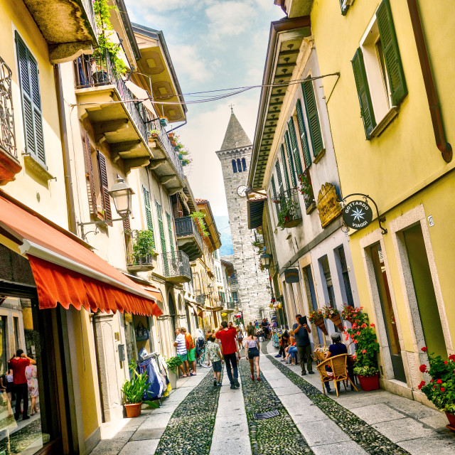 """The streets of Cannobio"" stock image"
